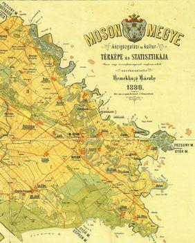 Moson vármegye térképe 1886-ban