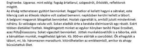 Pozsgai László visszaemlékezése
