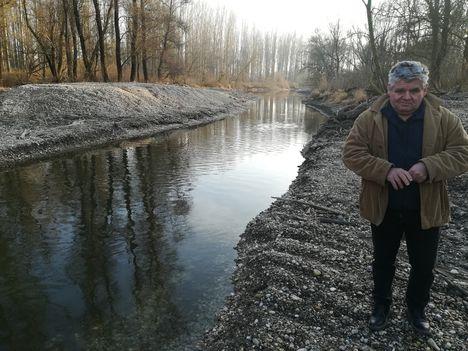 Felső-Kalapszigeti Duna-ág kisvizi vízpótlása, Ásványráró, 2020.01.15.-én 4