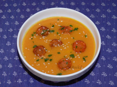 Gyömbéres narancsos sárgarépa krémleves