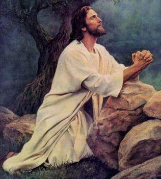 Jézus imádkozik.