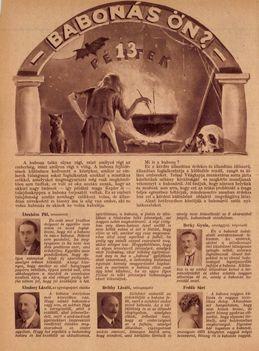 Korabeil hírességek a babonáról 1928. dec 19.