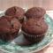 Muffin mazsolával és csokikrémmel