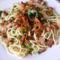 Rókagombás szalonnás spagetti