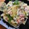 Sonkás makaróni saláta