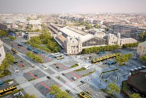 Nyugati tér: terv a forgalomszervezésre a felüljáró elbontása után (2018)