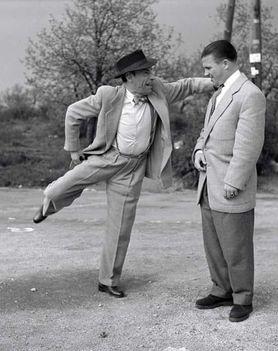 Latyival a Szabadság-hegyen - 1954