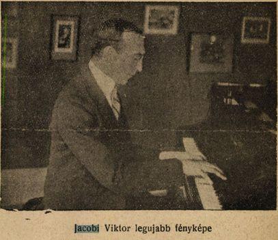 Jacobi Viktor zeneszerző 1920 Színházi Élet