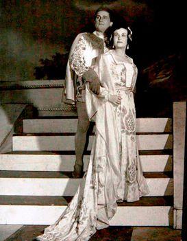 Vámos Ágnes és Mátray Ferenc a Simon Boccanegra c. operában