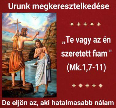 Urunk megkeresztelkedése
