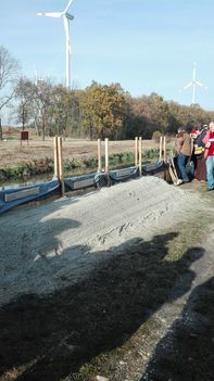 Árvízvédelmi gyakorlat a Lajta folyó mellett, Mosonmagyaróvár 2016- november 15.-én 6