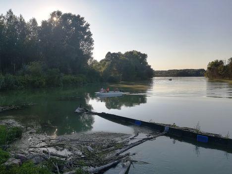 Az Ásványi ágvéglezárás felvízi oldala, Ásványráró  2019.08.11.-én(2)
