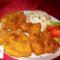 Csirkemell,szárny sajtos-tejfölös bundában
