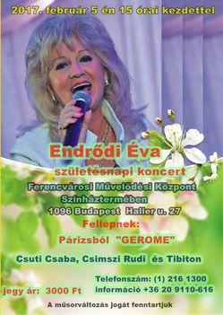Endrődi Éva születésnapi koncert 2017