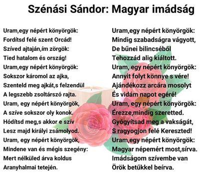 Szénási Sándor:Magyar imádság