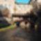 A régi malom épülete, a 2015-ben épített csúnakcsúszdával a Malom-ági Lajtán, Mosonmagyaróvár 2016. november 09.-én 2
