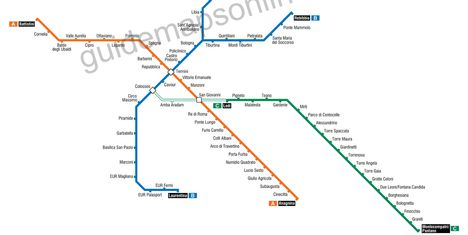 Metró térképRóma