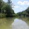 Mosoni-Duna folyó a Mosonmagyaróvári duzzasztómű alatti szakaszon, 2019. július 24.-én