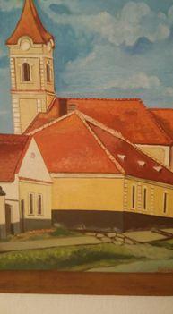 Szilágyi Gyula- A régi iskola a templommal