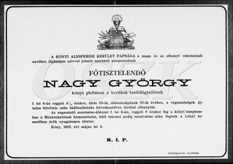 Nagy György gyászjeletése