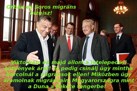 Orbán és Soros migráns biznisz