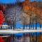 Téli park színek