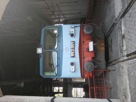 V63 001 (Gigant) a Vasútörténeti parkban