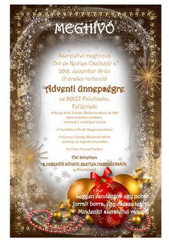 Meghívó Advent