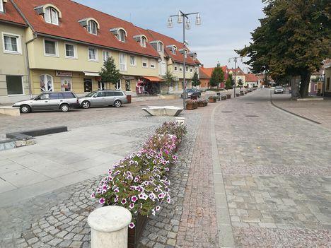 Moson belvárosa, Erzsébet tér, Mosonmagyaróvár 2019. szeptember 23.-án