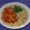 Tejfölös zöldbab főzelék lecsós szelettel