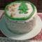 Marcipános gesztenyés karácsonyi torta
