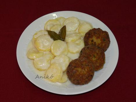 Babéros krumplifőzelék fasírttal
