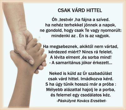 CSAK VÁRD HITTEL