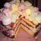 Málnás  túrós  pillecukros születésnapi torta