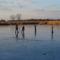 Befagyott a Holt-Duna, a gyerekek nagy örömére korcsolyapályává változott, Lipót 2017. január 07.-én  3