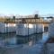 Befagyott a Homoki hallépcső vize a Régi (Trianoni) Rajkai zsilipnél, 2017 január 07 1