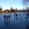 Befagyott a Kis-Zátonyi Doborgazszigeten és a gyerekek nagy örömére korcsolyapályává  változott, Dunasziget 2017. január 07.-én 1