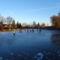 Befagyott a Kis-Zátonyi Doborgazszigeten és a gyerekek nagy örömére korcsolyapályává  változott, Dunasziget 2017. január 07.-én 5