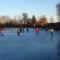 Befagyott a Kis-Zátonyi Doborgazszigeten és a gyerekek nagy örömére korcsolyapályává  változott, Dunasziget 2017. január 07.-én 6