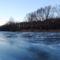 Befagyott a Mosoni-Duna a mosoni Partos utca melletti folyószakaszon, Mosonmagyaróvár 2017 január 07 2
