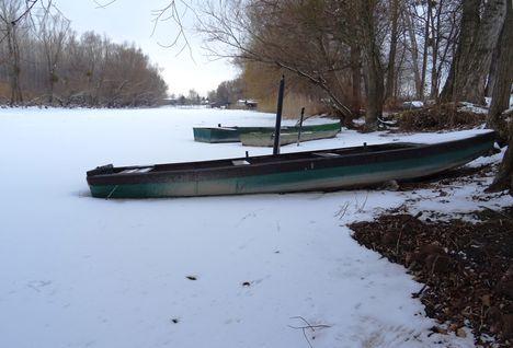 Befagyott a Mosoni-Duna, Halászi 2017. január 12.-én  9