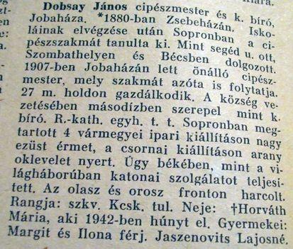 Dobsay János-Jobaháza