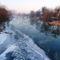 Jeges állapotok a Mosoni-Duna Kimle község belterületi szakaszán, 2017. január 11.-én 1