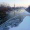 Jeges állapotok a Mosoni-Duna Kimle község belterületi szakaszán, 2017. január 11.-én 3