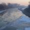 Jeges állapotok a Mosoni-Duna Kimle község belterületi szakaszán, 2017. január 11.-én 4