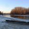 Jeges állapotok a Mosoni-Duna Mecsér község belterülete melletti szakaszán, 2017. január 11.-én 1