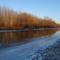 Jeges állapotok a Mosoni-Duna Mecsér község belterülete melletti szakaszán, 2017. január 11.-én 2