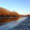 Jeges állapotok a Mosoni-Duna Mecsér község belterülete melletti szakaszán, 2017. január 11.-én 3
