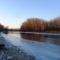 Jeges állapotok a Mosoni-Duna Mecsér község belterülete melletti szakaszán, 2017. január 11.-én 4