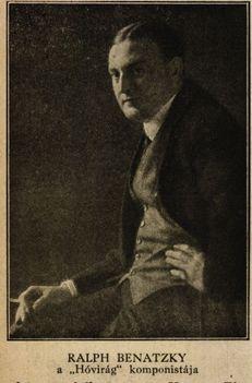 Ralph Benatzky  osztrák cseh operettszerző Színházi Élet 1918